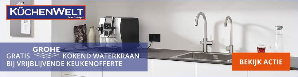 kuchenwelt gratis kokend waterkraan banner