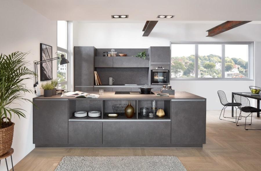 Betonlook eiland keuken
