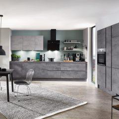 Betonlook keuken met betonlook blad