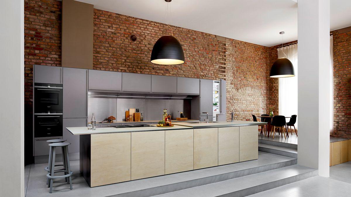 Houtlook keuken Siemens apparatuur