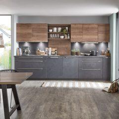 Betonlook keuken met hout Alfhausen