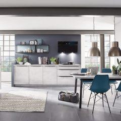 betonlook keuken met kastenwand burlo