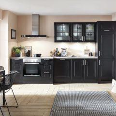 kleine landelijke zwarte keuken melle