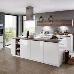 witte hoogglans keuken met eiland ostbevern