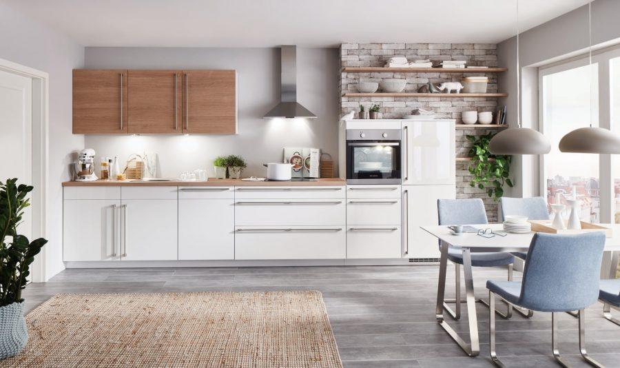 witte hoogglans keuken met hout papenburg