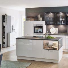 witte hoogglans keuken met eiland roxel