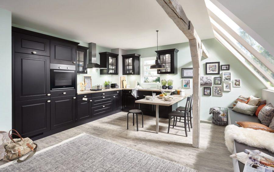 landelijke zwarte keuken saerbeck
