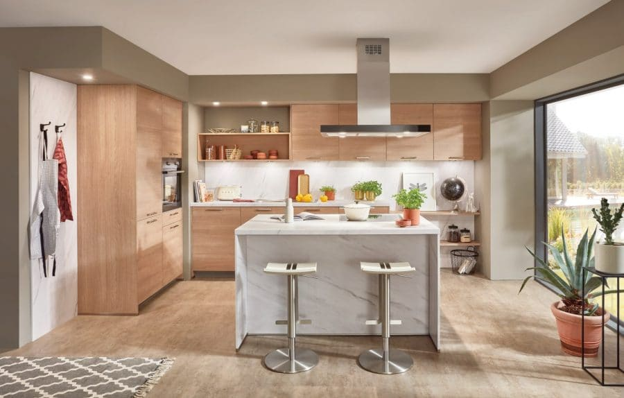keuken met marmer kookeiland twist