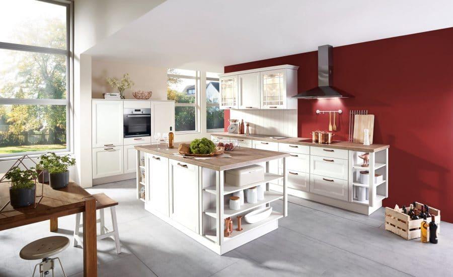 witte keuken met eiland wietmarschen