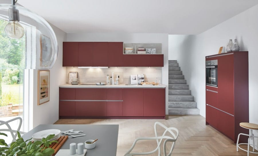 Complete greeploze rode keuken